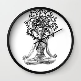 Sukhasana Wall Clock