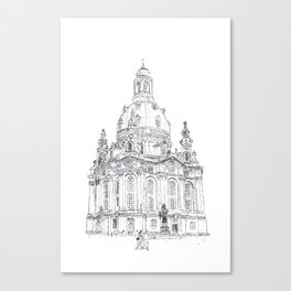 "Typewritten ""Frauenkirche of Dresden"" Canvas Print"