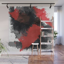 Red and Black Paint Splash Wall Mural
