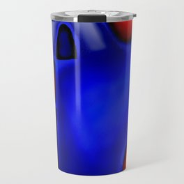 Abstraction in Lapis and Red Travel Mug
