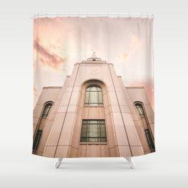 Kansas City LDS Temple 2 Shower Curtain