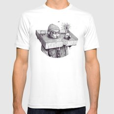 kid please draw me a house Mens Fitted Tee White SMALL