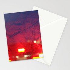 steamy car light bokeh Stationery Cards