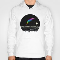 swimming Hoodies featuring Night Swimming by Octavia Soldani