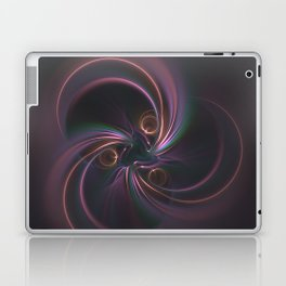 Moons Fractal in Warm Tones Laptop & iPad Skin