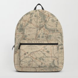 Vintage Map of The White Mountains (1896) Backpack
