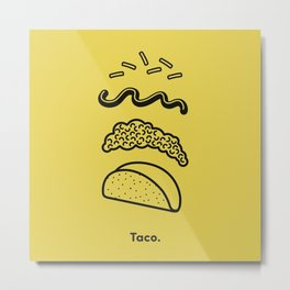 Taco Puzzle  Metal Print