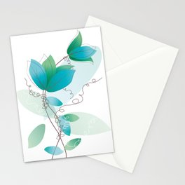 Vintage Floral Romantic Pattern Stationery Cards