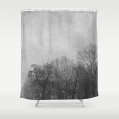 Winter In Black and White Shower Curtain