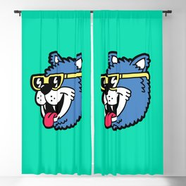 Cool Bear (portrait) Blackout Curtain