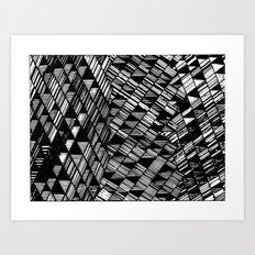 Moving Panes Black & White Art Print