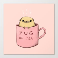 Pug of Tea Canvas Print