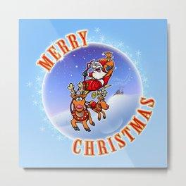Merry Christmas Snowglobe! Metal Print