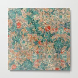 Study in Teal and Peach Metal Print