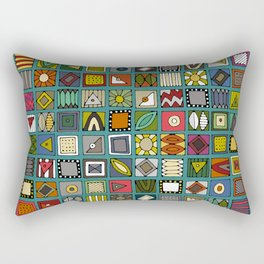 el geo teal Rectangular Pillow