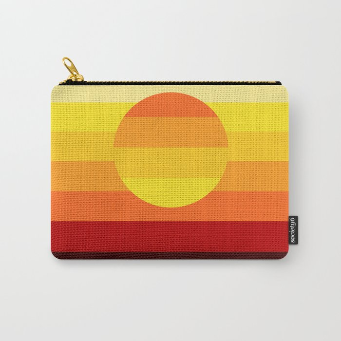 Sunset Stripe Carry-All Pouch