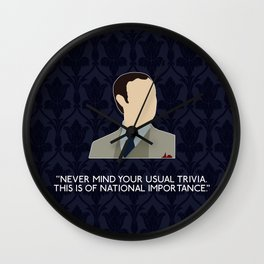 The Great Game - Mycroft Holmes Wall Clock