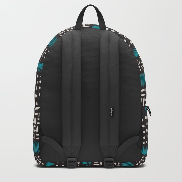 Dots, spots and zigzags pattern Backpack