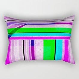 Neon Stripes 2 Rectangular Pillow