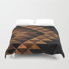 Urban Tribal Pattern 11 - Aztec - Wood Duvet Cover