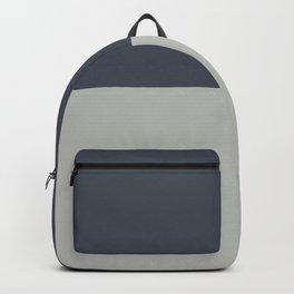 BM 2019 Color of Year Metropolitan AF-690 & Hale Navy Blue Gray HC-154 Horizontal Stripes Blocks Backpack