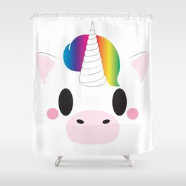 Unicorn Block Shower Curtain