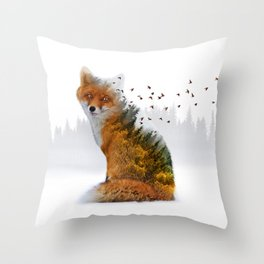 Wild I Shall Stay | Fox Throw Pillow