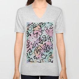 Abstract Modern Graffiti Watercolor Brushstrokes Unisex V-Neck