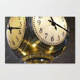 Gold clock Canvas Print