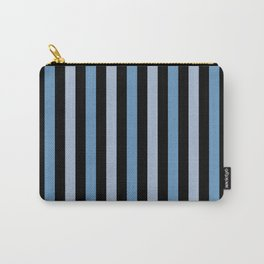 Stripes (Parallel Lines) - Blue Black Carry-All Pouch