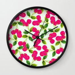 Cherry Picking #society6 #decor #buyart Wall Clock