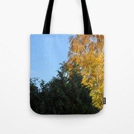 Nature tree yallow green Tote Bag