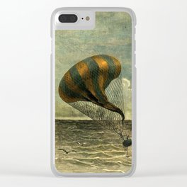 Hot Air Balloon - Jules Verne/George Roux Clear iPhone Case
