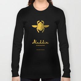 Aladdin, minimal movie poster, 1992 classic animated movie, Robin Williams, princess Jasmine, Jafar Long Sleeve T-shirt