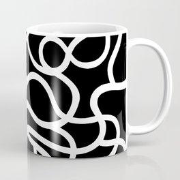 Organic River Lines - Black-White Coffee Mug