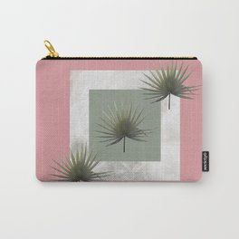 THREE PALM LEAVES & MARBLE Carry-All Pouch
