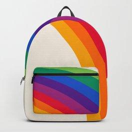 Groovy - rainbow 70s 1970s style retro throwback minimal happy hippie art decor Backpack