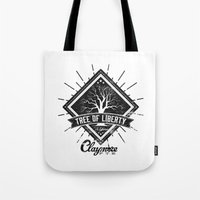 patriots Tote Bags featuring Tree of Liberty by ClaymoreFTE