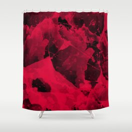 Watercolor abstract art Shower Curtain