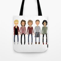 cargline Tote Bags featuring Long Hair Simplistic  by cargline