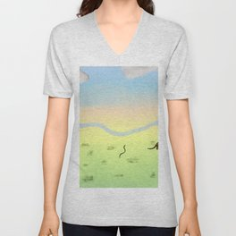 Dawn In The Australian Bush Unisex V-Neck