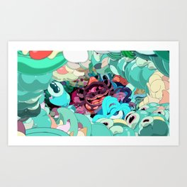 Diving In A Sea Of Light Art Print