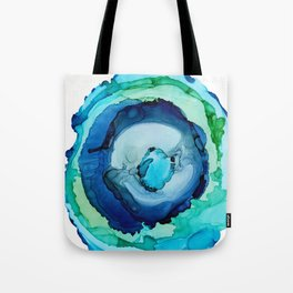Riptide, Agate Slice Abstract Tote Bag