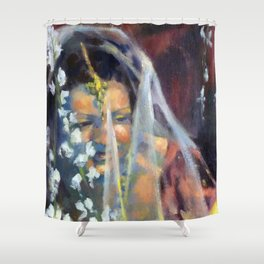 Sri Lankan Bride Shower Curtain