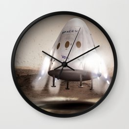 Red Dragon Landing Wall Clock