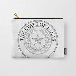 The State Of Texas Seal Carry-All Pouch