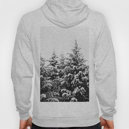 Winter Wanderlust Woods III - Snow Capped Forest Nature Photography Hoody