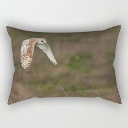 Barn Owl in Flight Rectangular Pillow