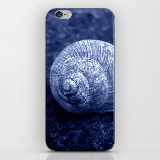 blue snail shell iPhone & iPod Skin