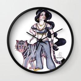 Badass Princess - Jasmine & Rajah Wall Clock